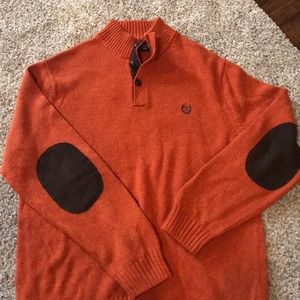 Chaps Sweaters - 🌺BOGO Orange Chaps Sweater with Elbow Patches